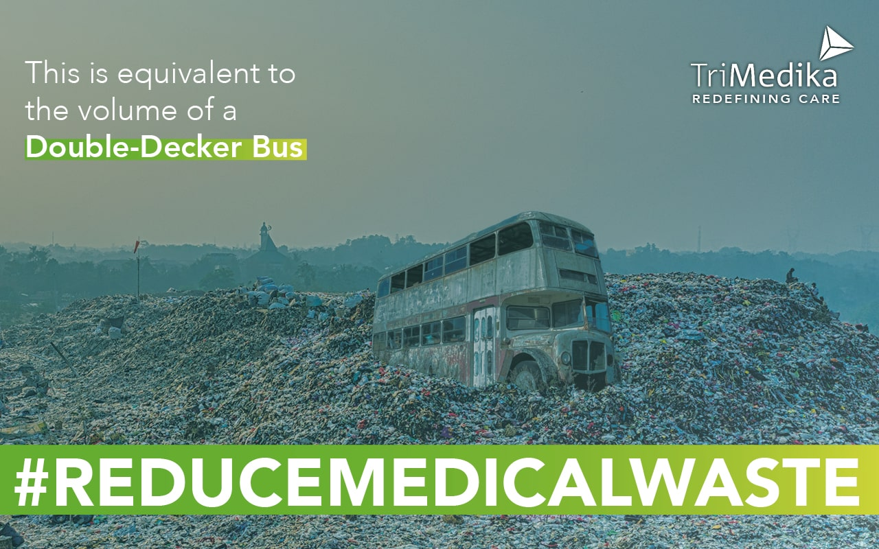 Sustainability - Image of Double Decker bus showing amount of plastic caps